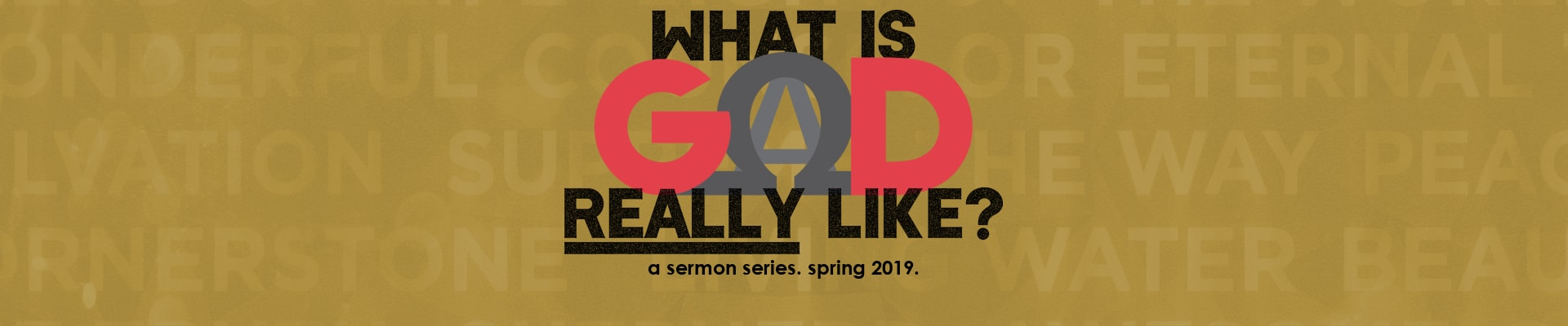 What Is God Really Like | A Sermon Series | Spring 2019